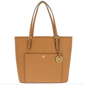 Authentic Michael Kors Jet Set Tote Large In Acorn